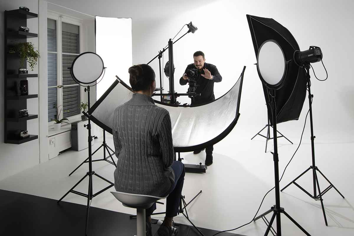 Photo Studio in a dental Clinic in Geneva